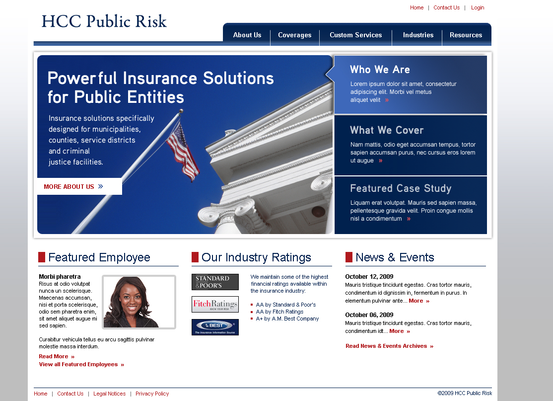HCC Public Risk – Marketing Website