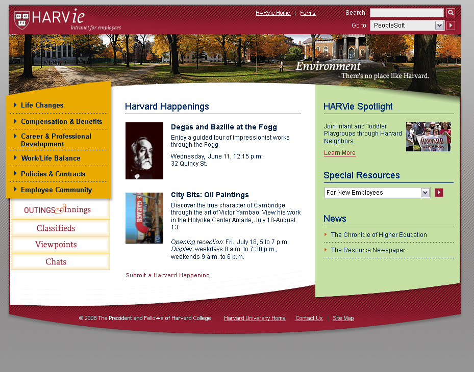 Harvard Information For Employees (HARVie)
